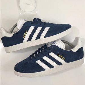 NEW Wmns Adidas Gazelle Navy Blue Suede sz10